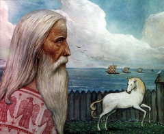 Остров Рюген. Жрец и священный конь Святовита