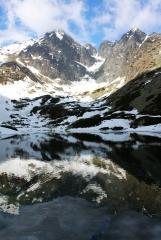 Горы отражаются в воде