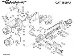 Кинематическая схема Shimano Catana 2500RA